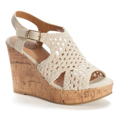 womens wedges so® womenu0027s woven wedge sandals UTAIGHE