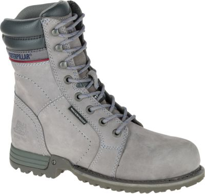 womens work boots echo waterproof steel toe work boot, frost grey, dynamic ... HLUJBHO