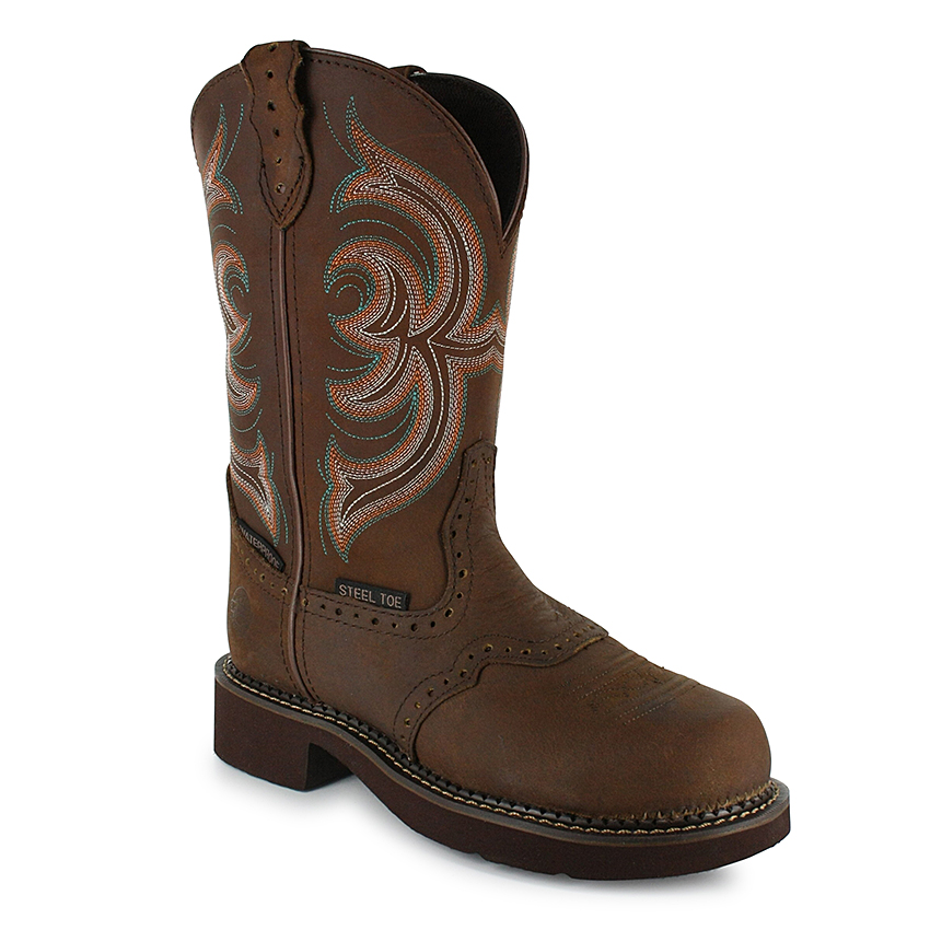 womens work boots justin gypsy womenu0027s waterproof steel toe work boots QABRENF