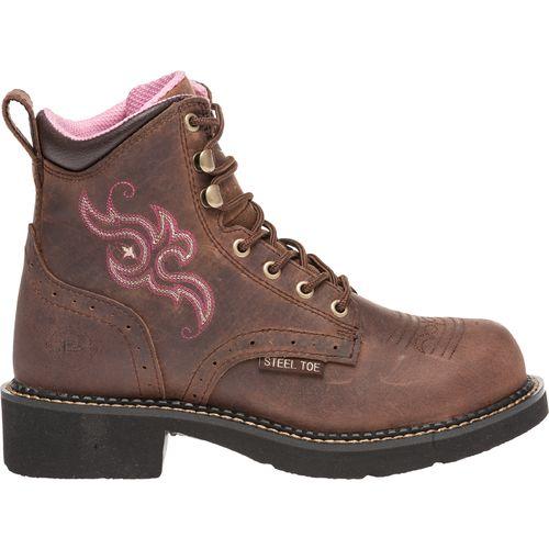 womens work boots justin womenu0027s gypsy® aged bark steel toe work boots HRKILKJ