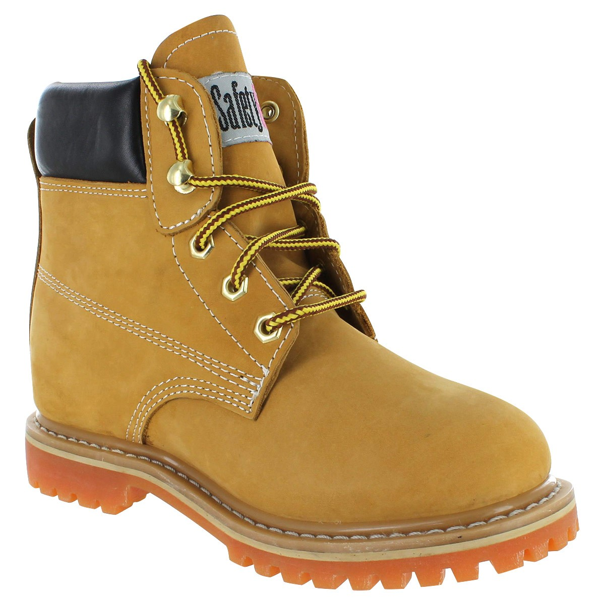 womens work boots safety girl ii sheepskin lined work boots - tan IPMAYUT