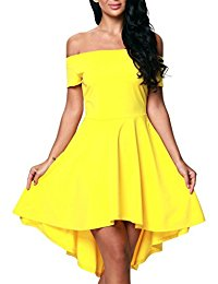 yellow dresses amazon.com: yellow - dresses / clothing: clothing, shoes u0026 jewelry HSVTYEP