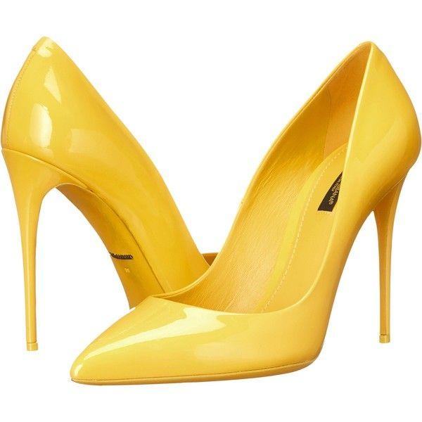yellow heels dolce u0026 gabbana vernice pump (sun) womenu0027s shoes (570 aud) ❤ liked QMYKPOV