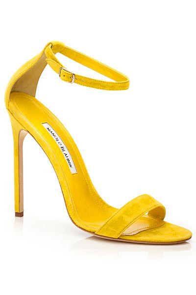yellow heels manolo blahnik 2014 spring-summer- yellow ankle strap sandals. |  luxuryshoeclub.com HXAKASU
