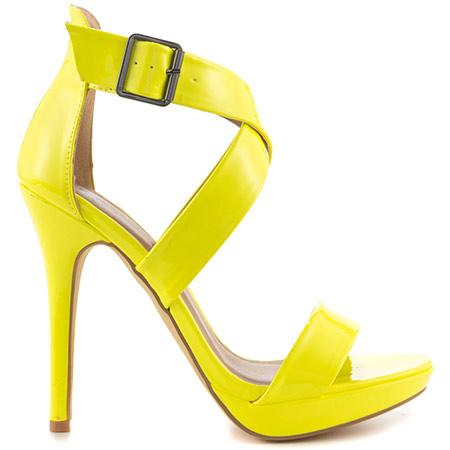 yellow heels michael antonio luckey - lime pat pu WIOZJYB