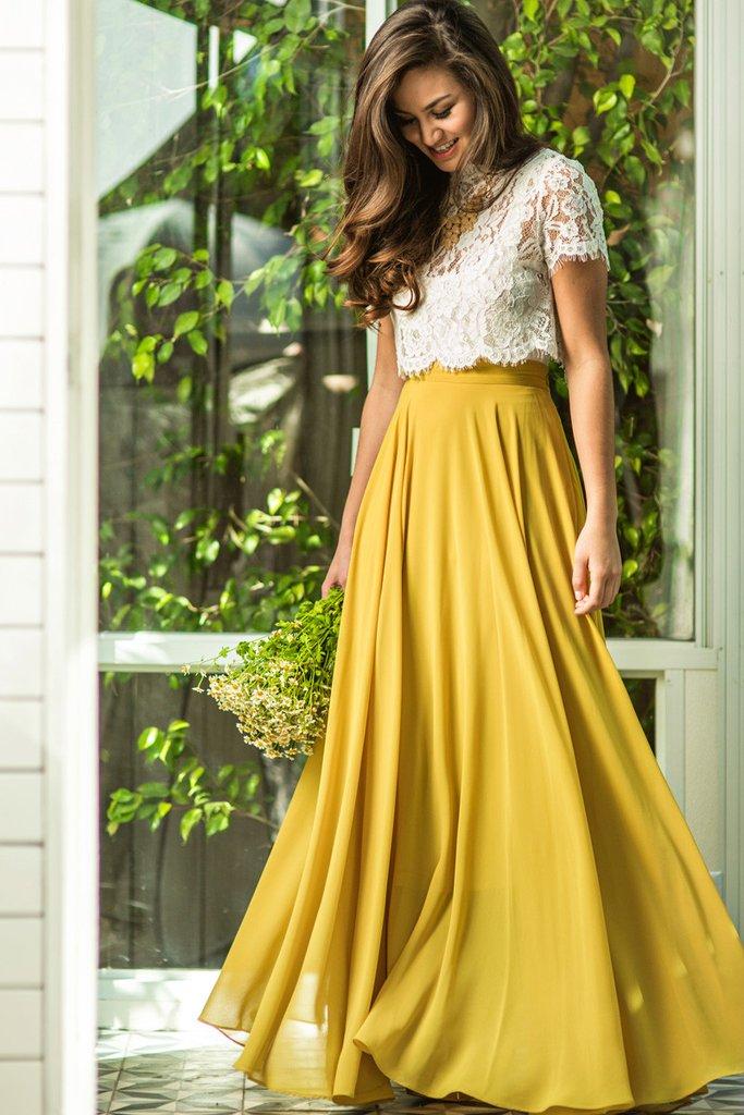 yellow skirt amelia full yellow maxi skirt - morning lavender GXMPBNU