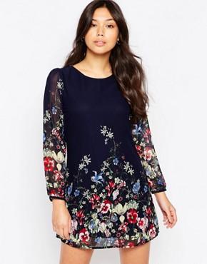 yumi dresses ... yumi border print long sleeve shift dress ... NSWDVFE
