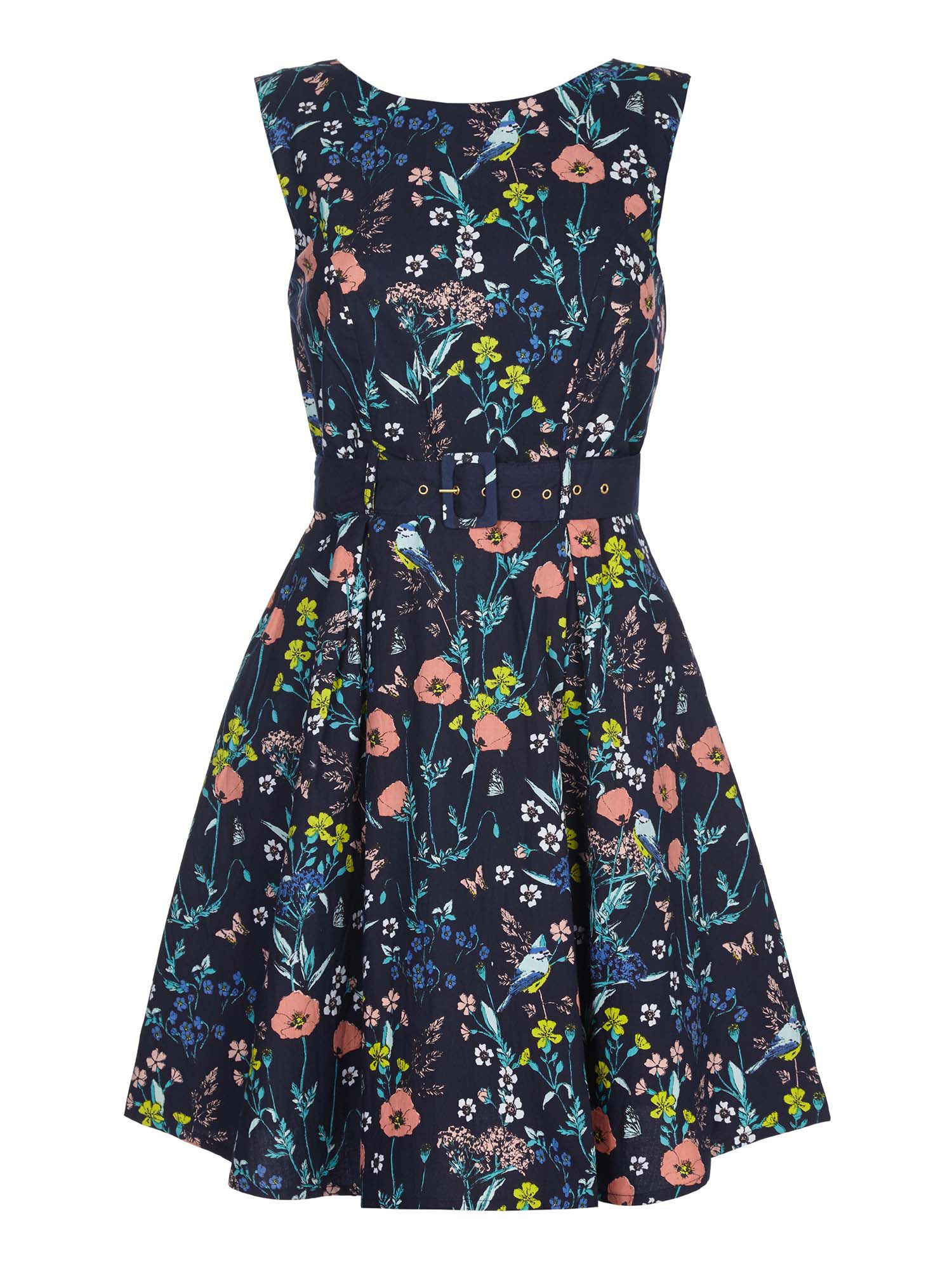 yumi dresses yumi floral belted day dress ... KIEKRPW