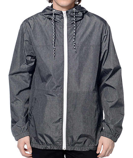 zine marathon heather charcoal windbreaker jacket NURRYDN