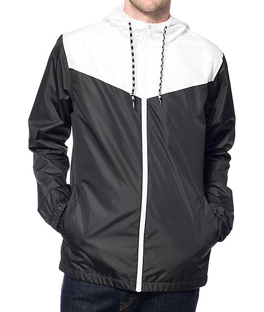 zine sprint white u0026 black windbreaker jacket FZRYLFS