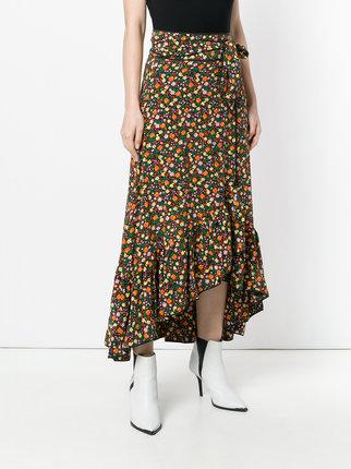 ... ganni floral print maxi wrap skirt CSXALSN