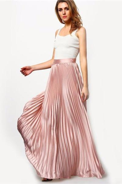 ... helene pleated maxi skirt ... FDCOQOI