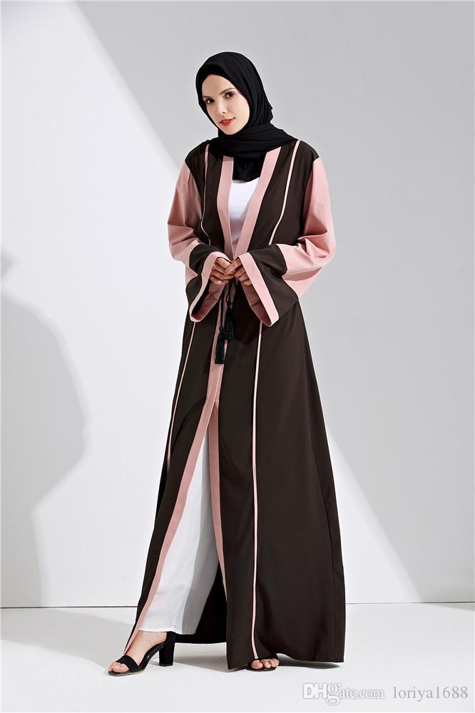 ... middle east fashion 2018 women soft cheap sofe crepe abaya muslim long  dress SNIURNO