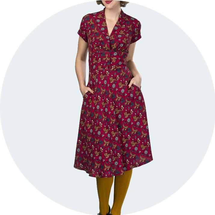1940s style dresses 1940s style dress | emmy design XTLEDRG