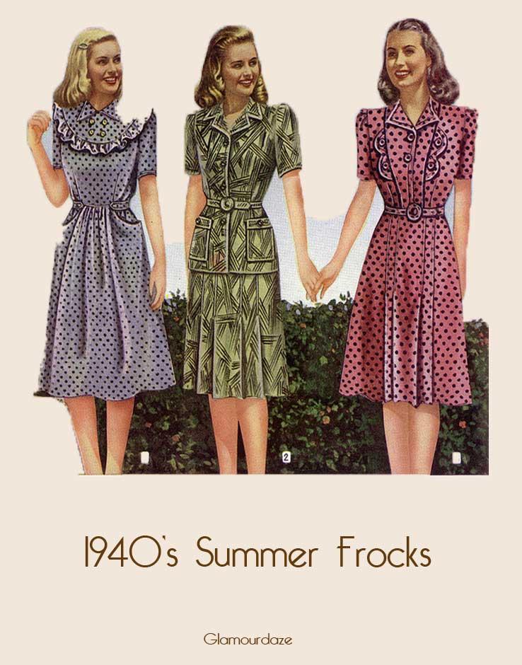 1940s style dresses 1940s-summer-frocks ETWELIF