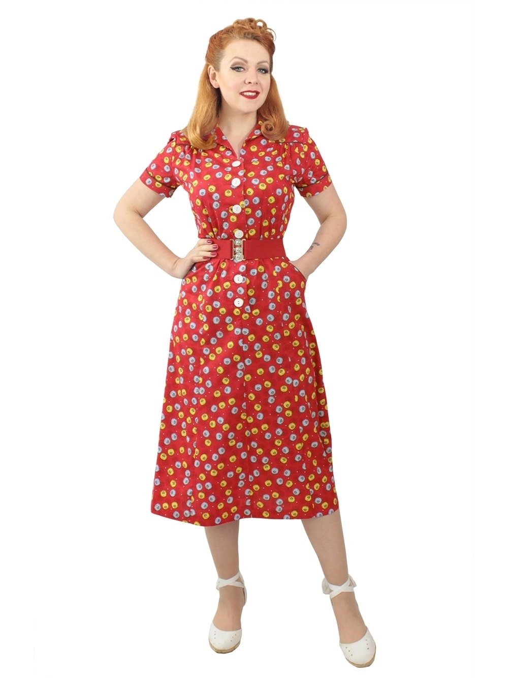 1940s style dresses 40s-1940s-vivien-of-holloway-best-vintage-reproduction- WGKXICP