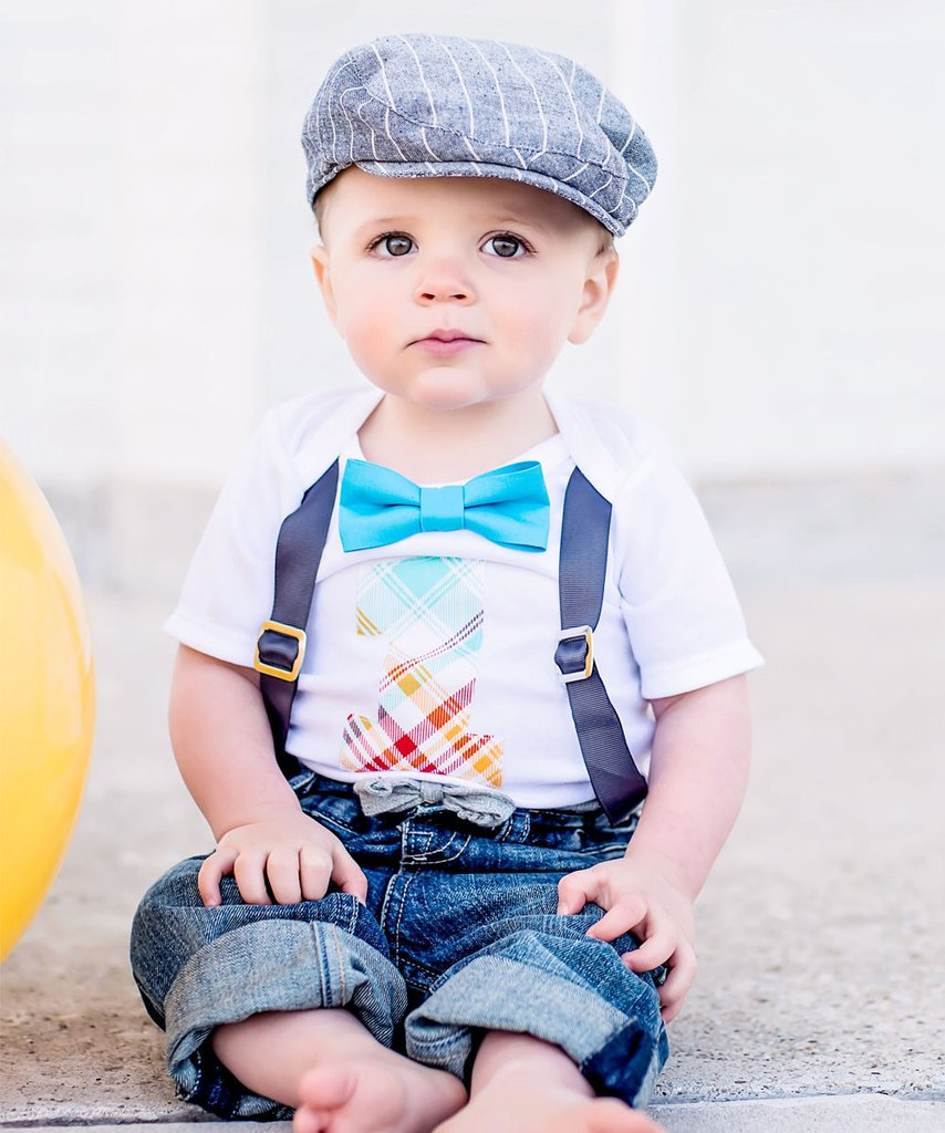 1st birthday outfit for boys ... first birthday outfit boy - grey blue orange lime red birthday - first WXSWXDW