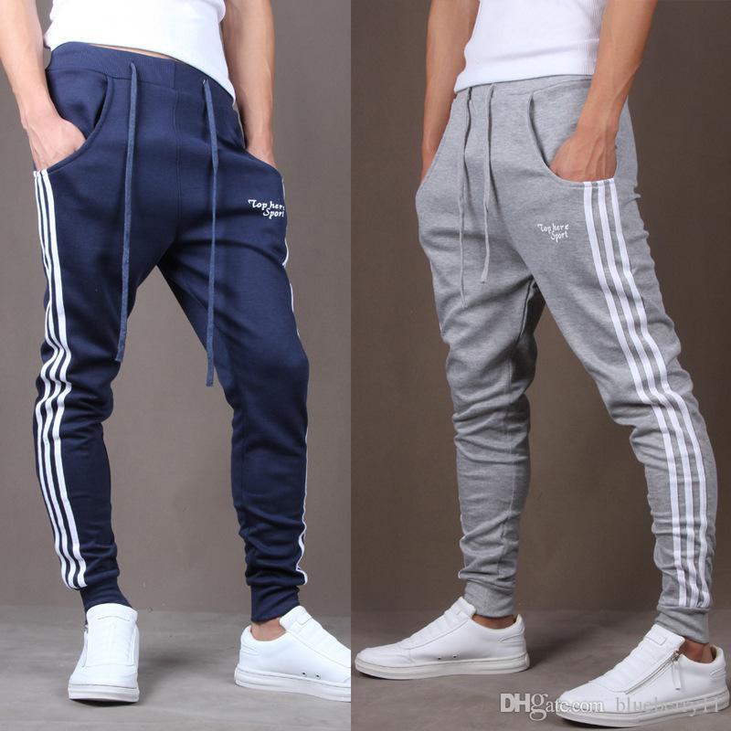 2018 fashion cotton mens joggers casual harem sweatpants sport pants men  gym bottoms track WTOQGBC