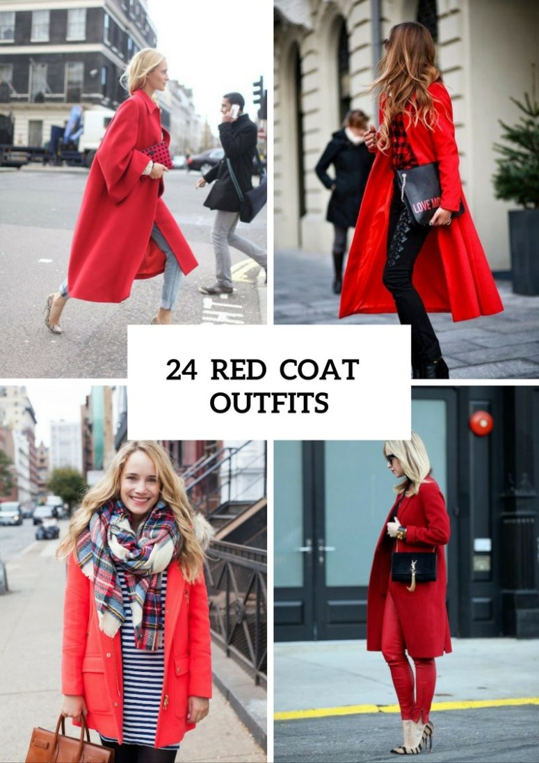 24 gorgeous red coat outfits to recreate YVJQCWO