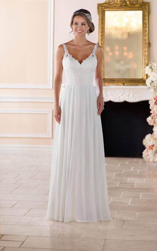 6393 flowy beach wedding dress by stella york KVKDYIM