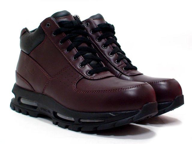 acg nike boots nike air max goadome wp boots acg burgundy men size 10 865031-601 BZPFIXY