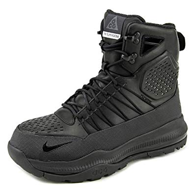 acg nike boots nike mens zoom superdome acg tactical leather boots black/black 654886-040  size 8.5 LOBVZJQ
