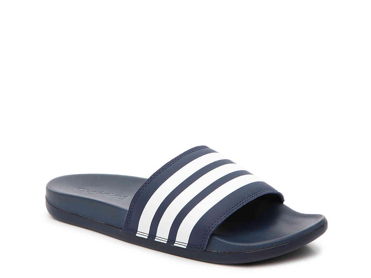 adidas adilette adilette cloudfoam ultra stripes slide sandal - womenu0027s PHXRMCE
