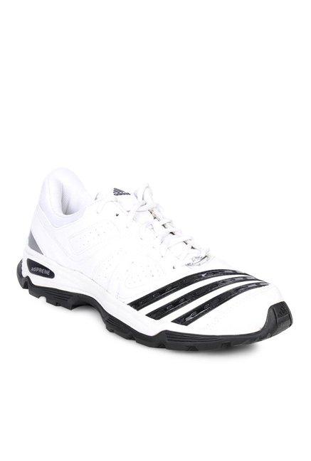 adidas adiprene 22yds white u0026 black cricket shoes NUDZDOJ