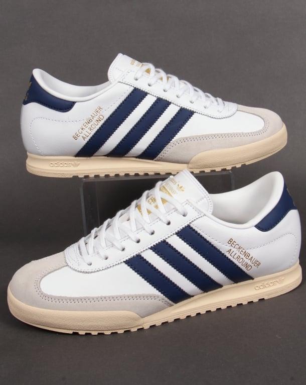 adidas beckenbauer allround adidas beckenbauer trainers white/navy/gold IYBNQNO