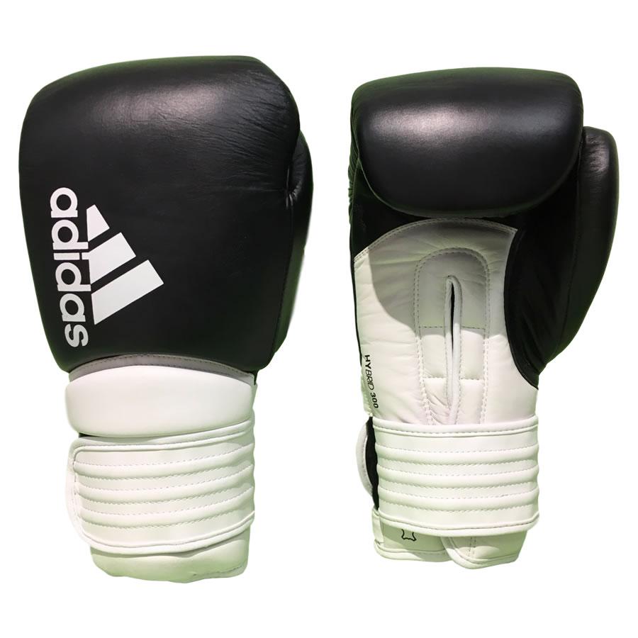 adidas boxing gloves adidas-hybrid-300-boxing-gloves-black-white AHEURSO