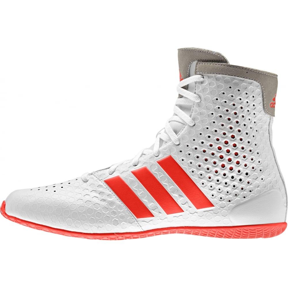 adidas boxing shoes ko legend 16.1 boxing boots - white orange YYHAQJC