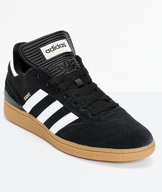 adidas busenitz pro black, white, u0026 gum shoes ... DCUECEB