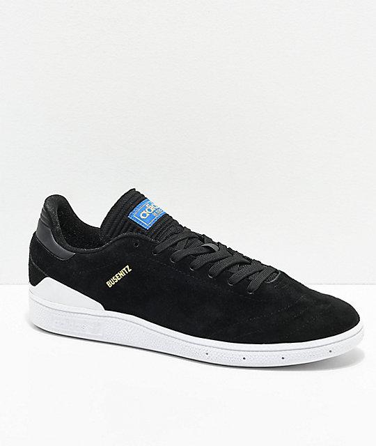 adidas busenitz pro rx core black u0026 white shoes ... IYAOKPL