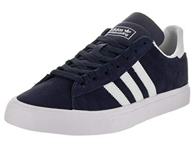 adidas campus vulc adidas menu0027s campus vulc ii adv conavy/ftwwht/ftwwht skate shoe 9 men us XGWPRAH