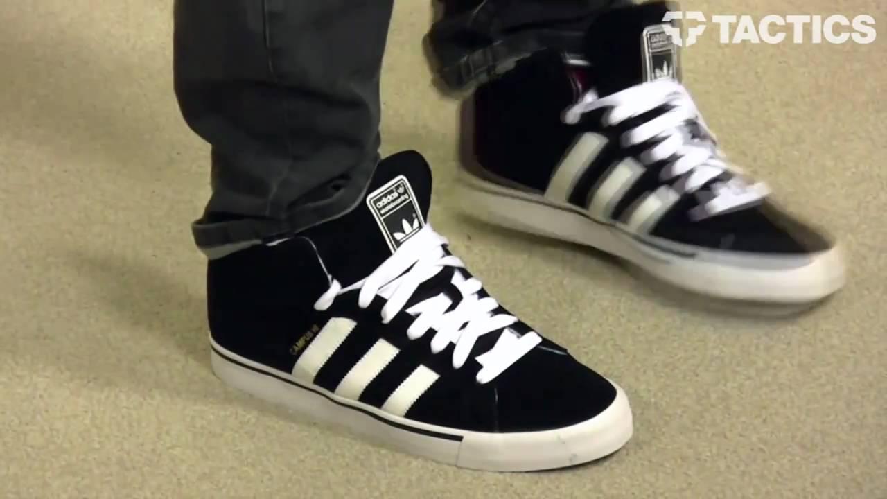 adidas campus vulc hi skate shoes review - tactics.com - youtube IHNOLRC