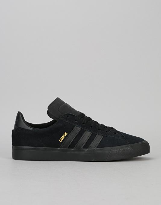 adidas campus vulc ii adv skate shoe - core black/core black BKQDSML