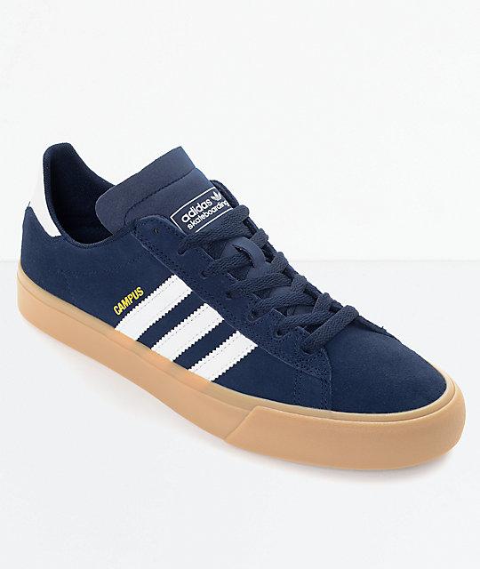 adidas campus vulc ii navy u0026 white gum shoes ... FNAVJWD