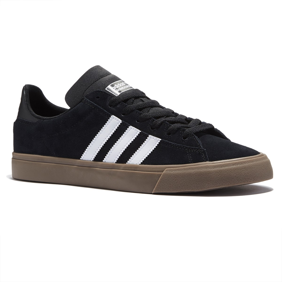 adidas campus vulc ii shoes - black/white/gum - 8.0 AQIFXRN