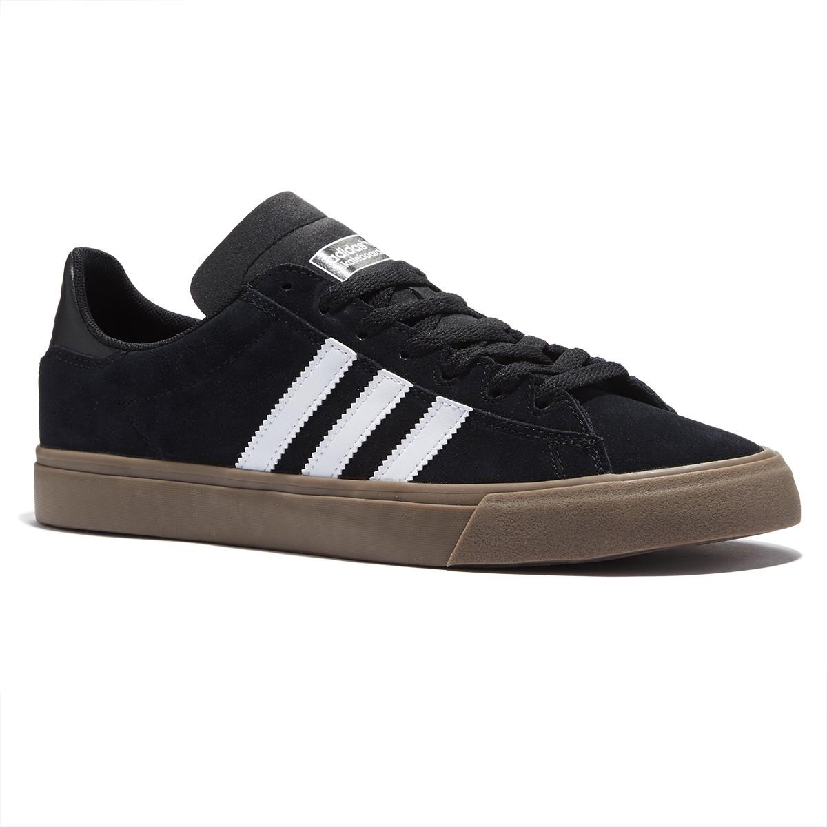 adidas campus vulc ii shoes - black/white/gum - 8.0 AQIFXRN