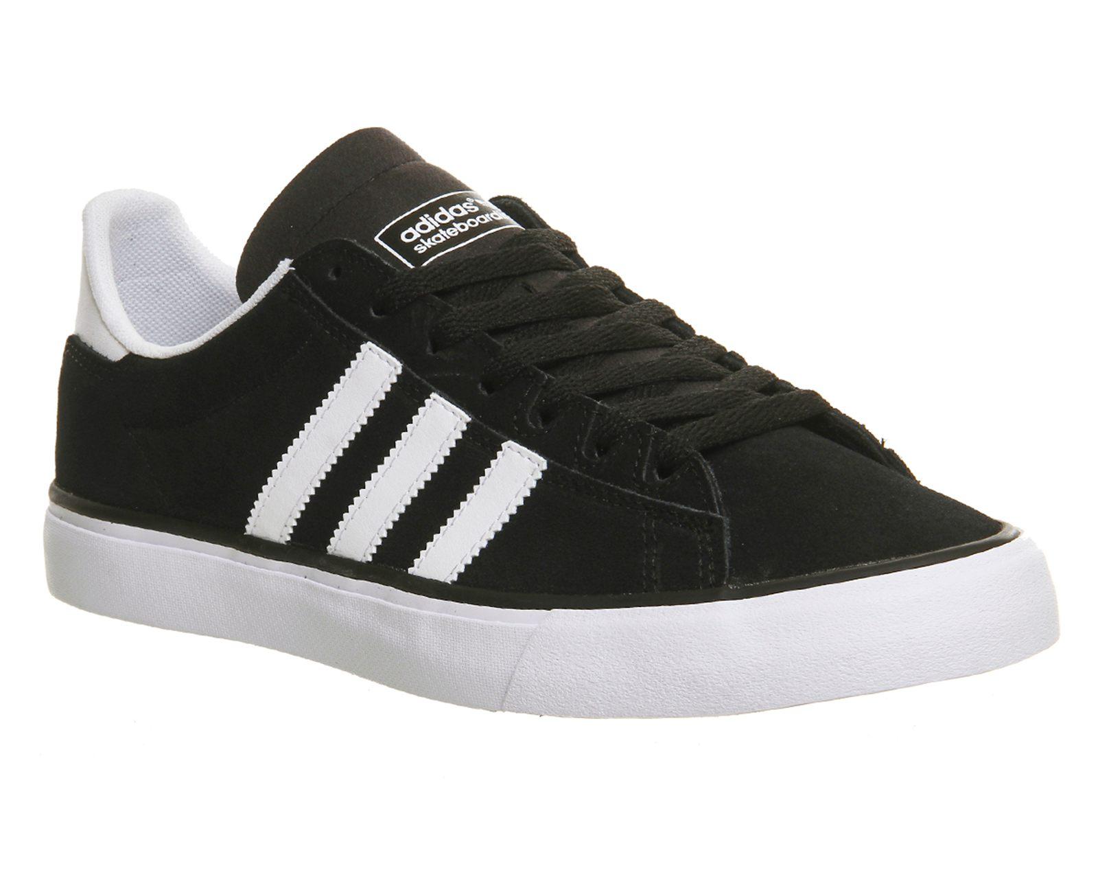 adidas campus vulc ii womens trainers (black white gum) - sh9967352 PFJOQHU