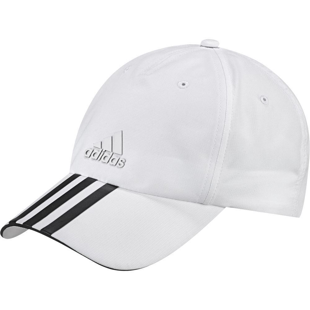 adidas cap adidas climalite 3-stripes hat - white NXUPVGV
