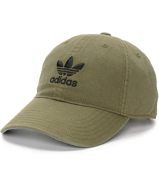 adidas cap adidas olive baseball hat ... CVXORAT