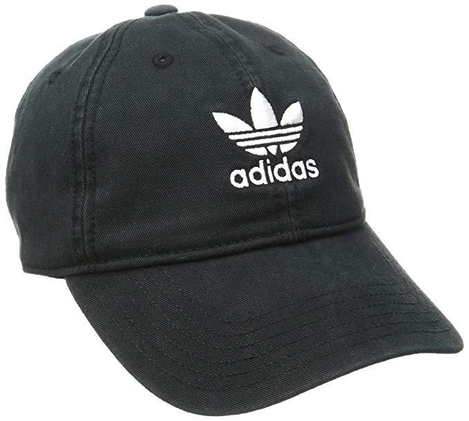 adidas cap adidas womenu0027s originals relaxed fit cap, one size, black/white XRHNUWF