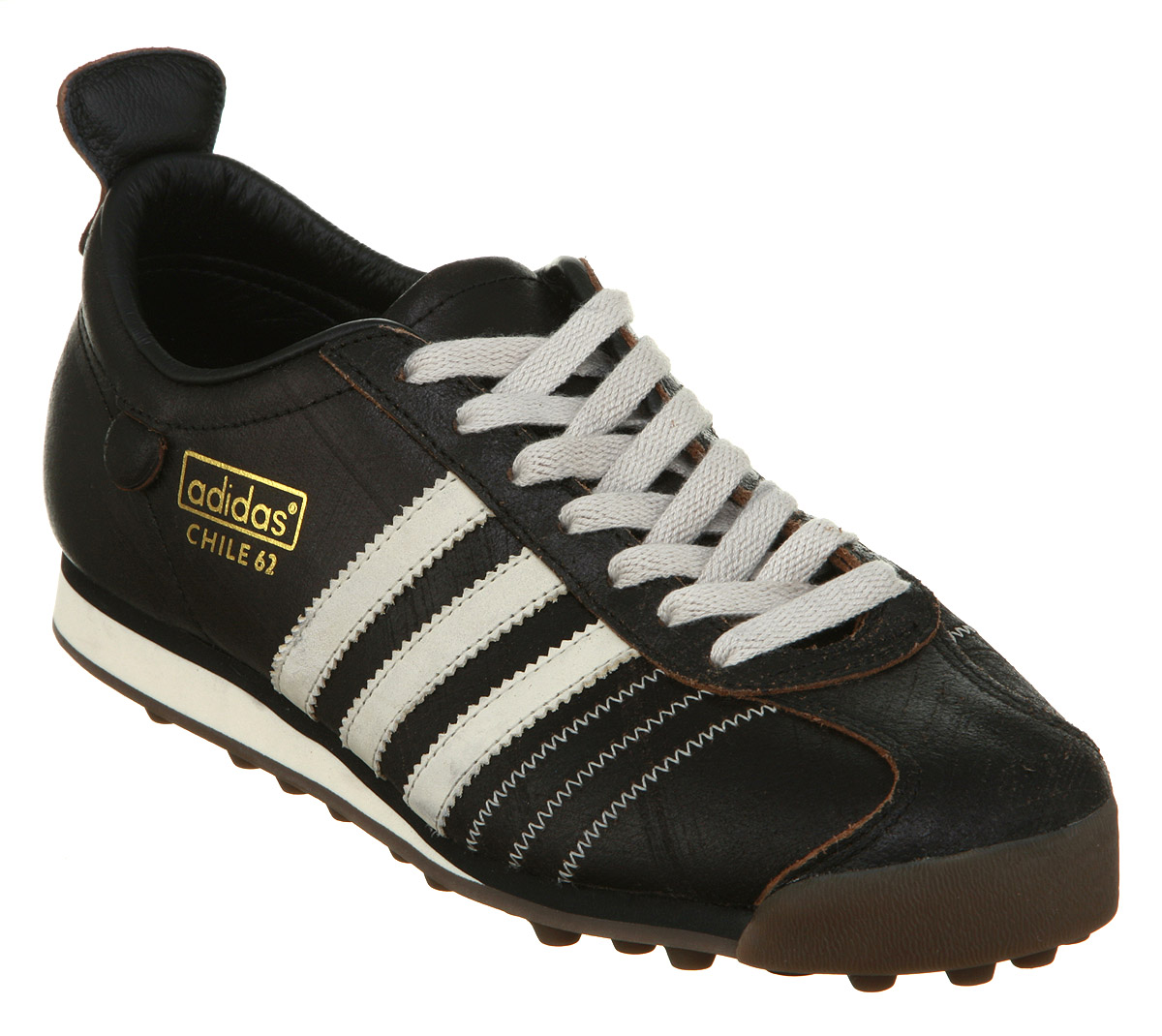 Adidas Chile 62 image is loading adidas-chile-62-black-bone-leather-trainers MTUVIKR