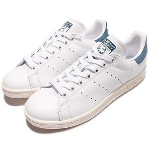 Adidas Classic image is loading adidas-originals-stan-smith-w-leather-white-blue- YHRXBDZ