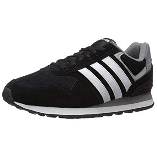 adidas classic shoes adidas menu0027s runeo 10k-m running shoe, black/white/matte silver, 11 m us NDLXUWY