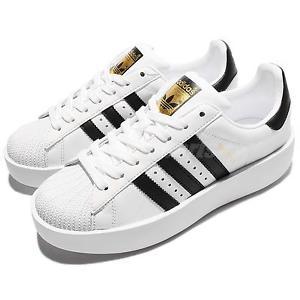 adidas classic shoes image is loading adidas-originals-superstar-bold-platform-w-white-gold- PWNWKBB