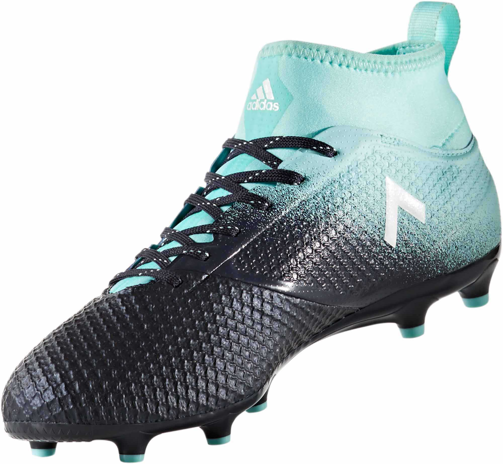 adidas cleats adidas ace 17.3 fg - energy aqua/legend ink JRBMUHB