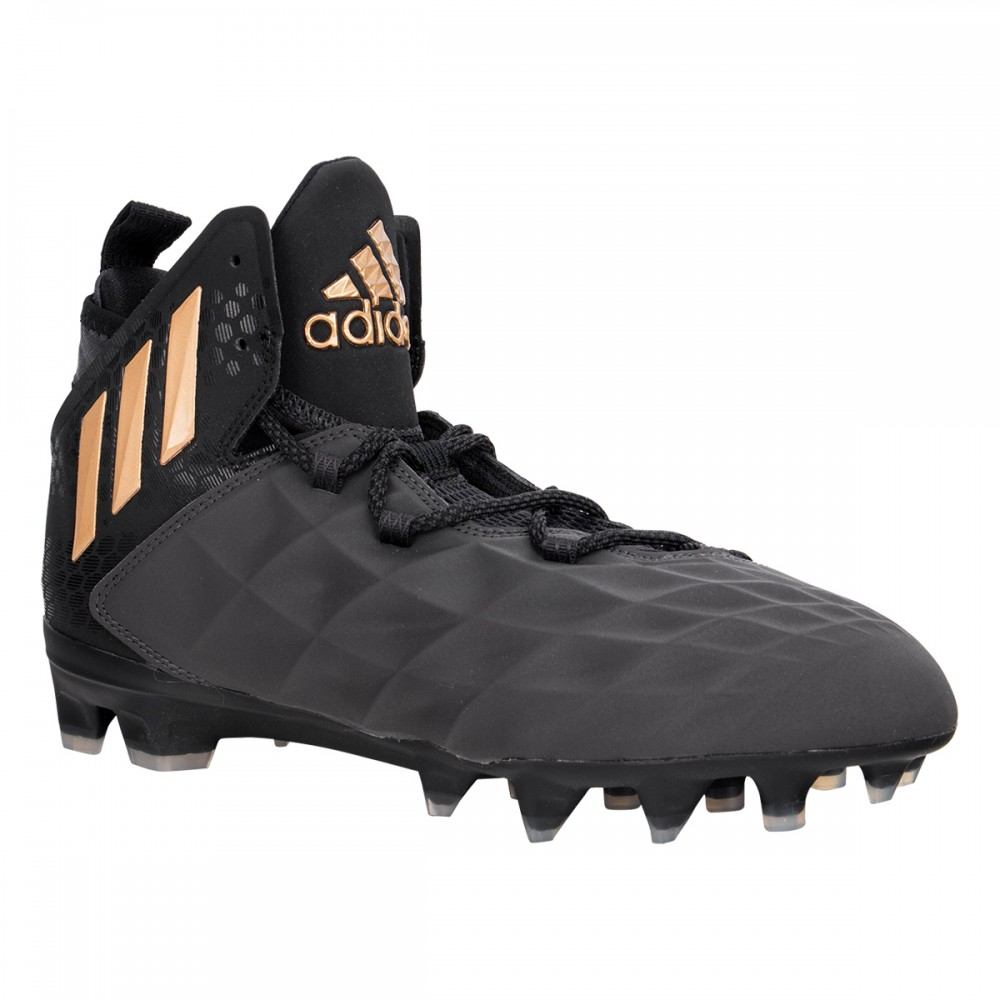 adidas cleats adidas freak menu0027s mid lacrosse cleats - black/copper metallic ZZOSWBD