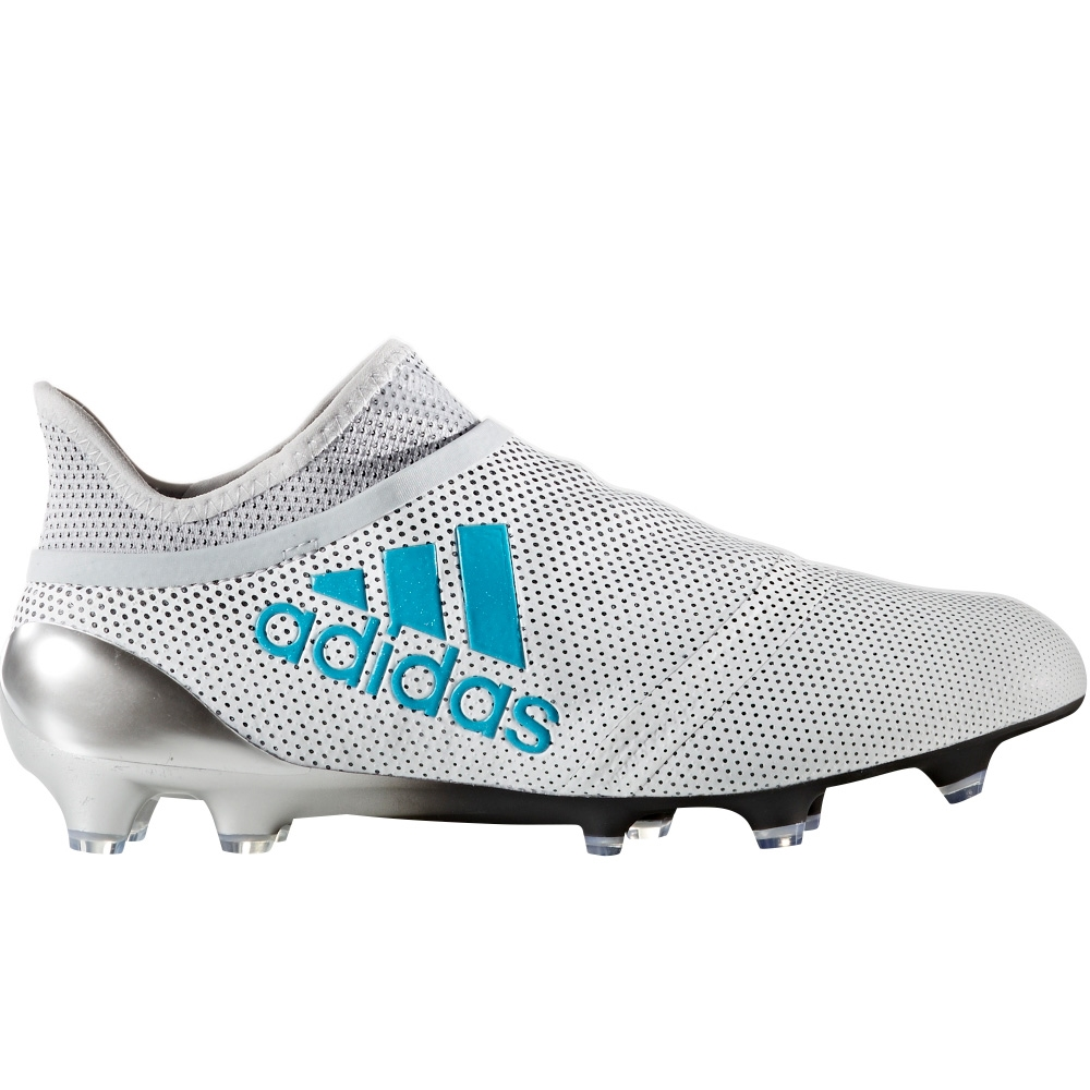 adidas cleats adidas x 17+ purespeed youth fg soccer cleats (white/energy blue/clear grey) VUVICNK